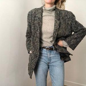 VINTAGE/ oversized tweed overcoat blazer